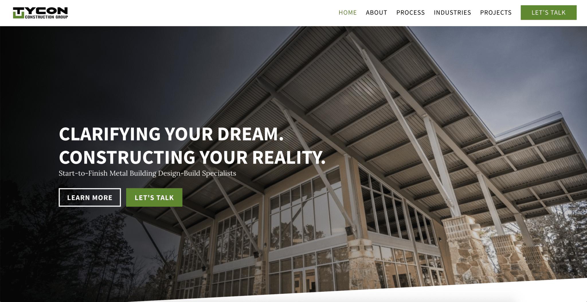 Metal Building Contractor Website Designers