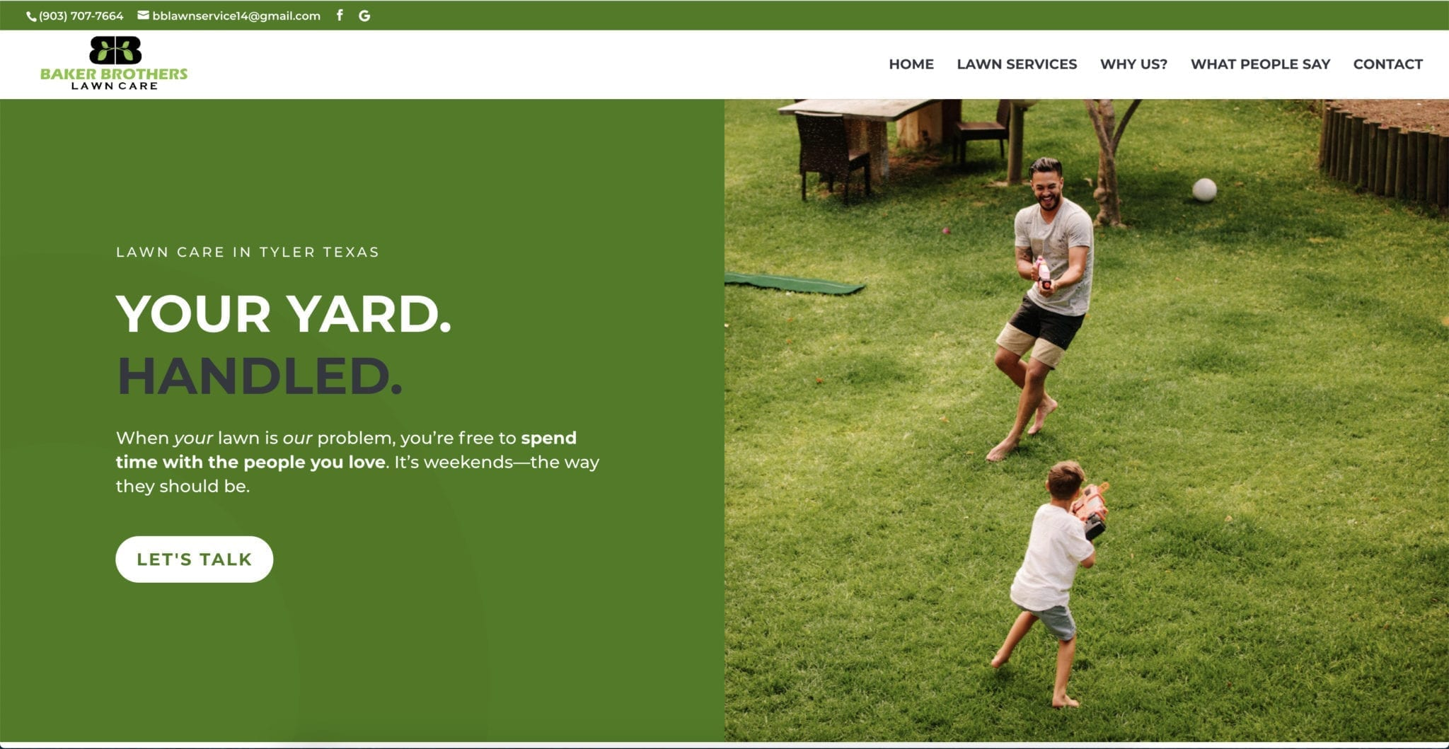 Baker Brothers Lawn Care Website