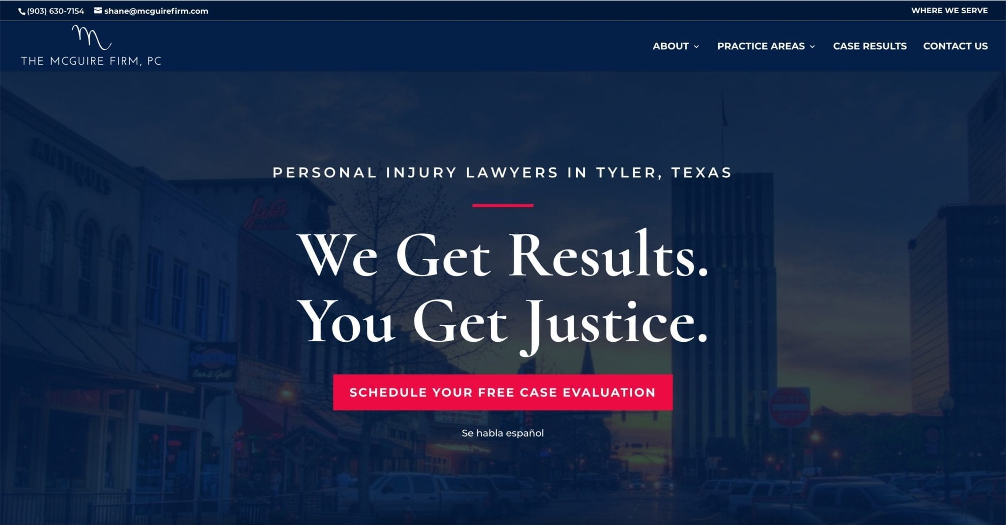 McGuire Firm Personal Injury Attorneys Website