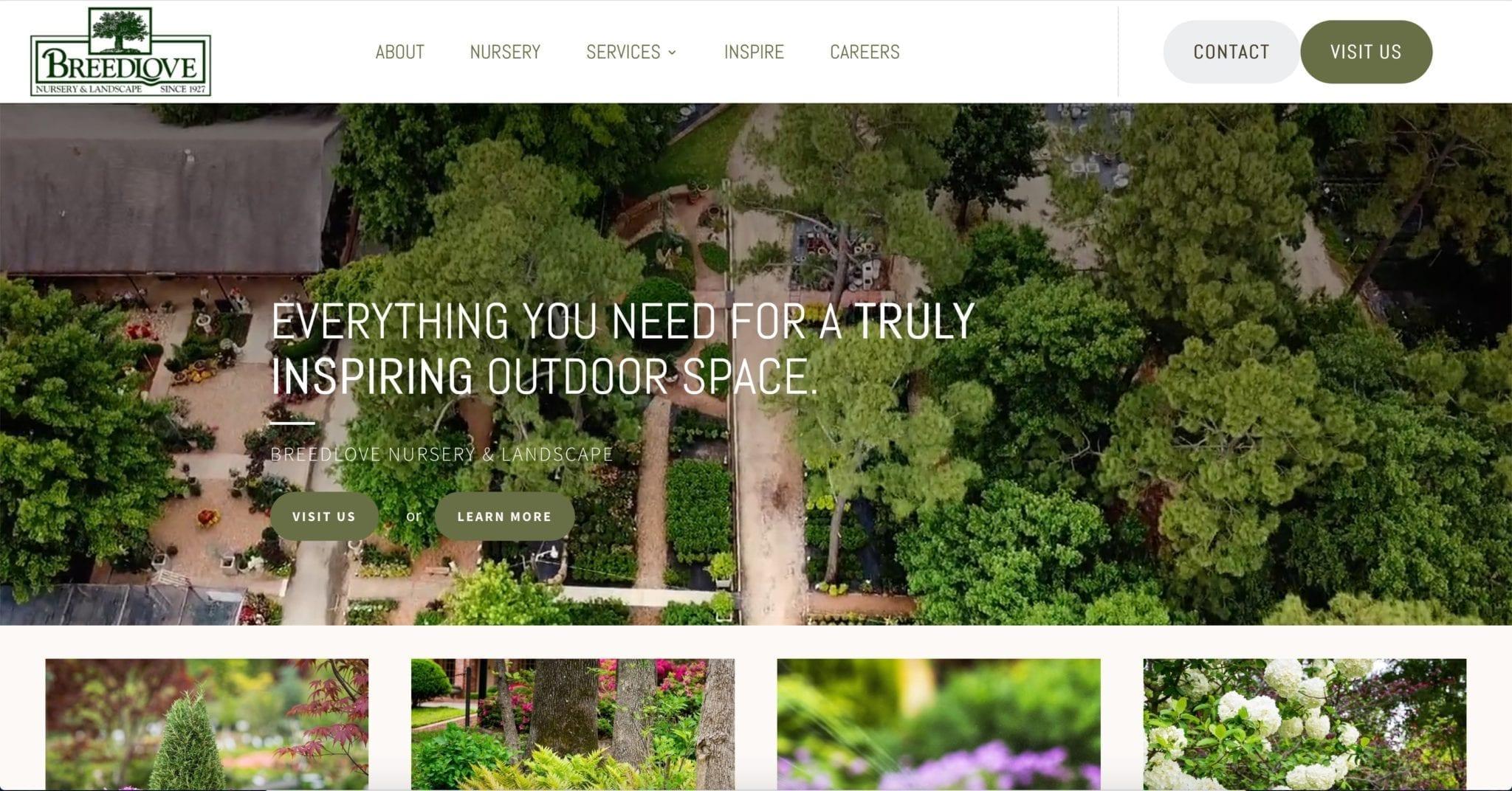 Breedlove Nursery & Landscape Website