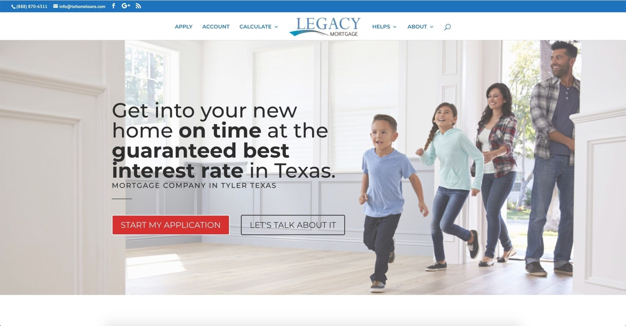 Web Design Project (Legacy Mortgage Group)
