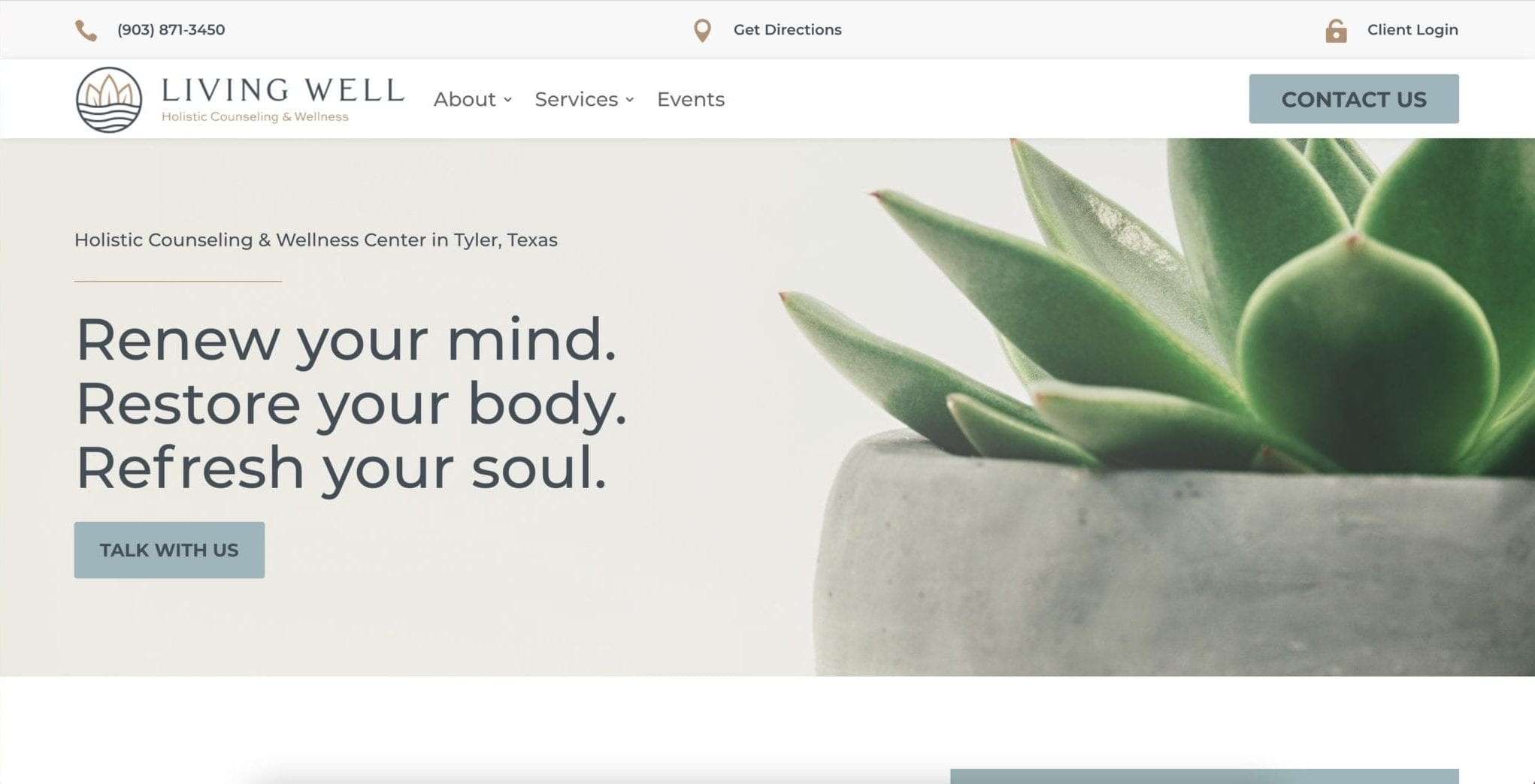 Web Design Project (Living Well Holistic Counseling & Wellness)