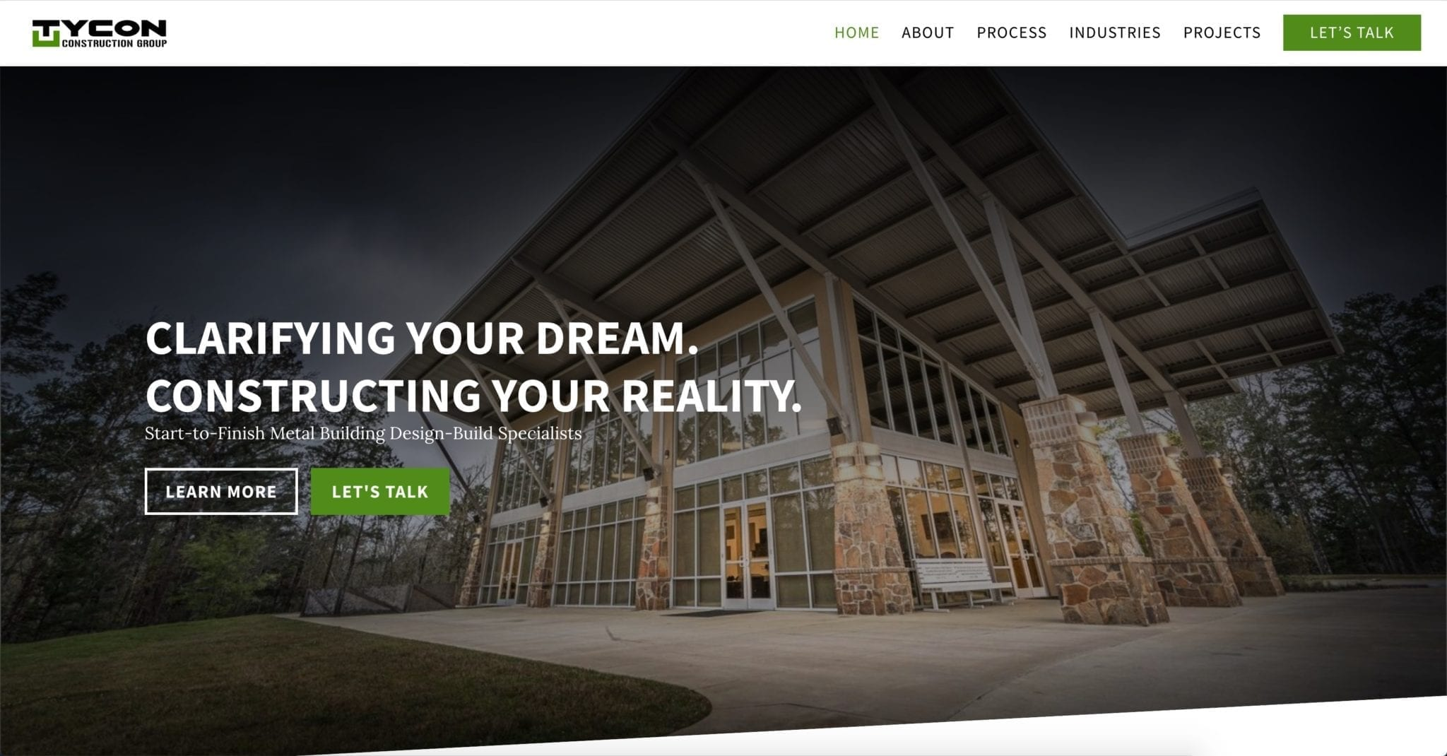 Web Design Project (Tycon Construction Group)