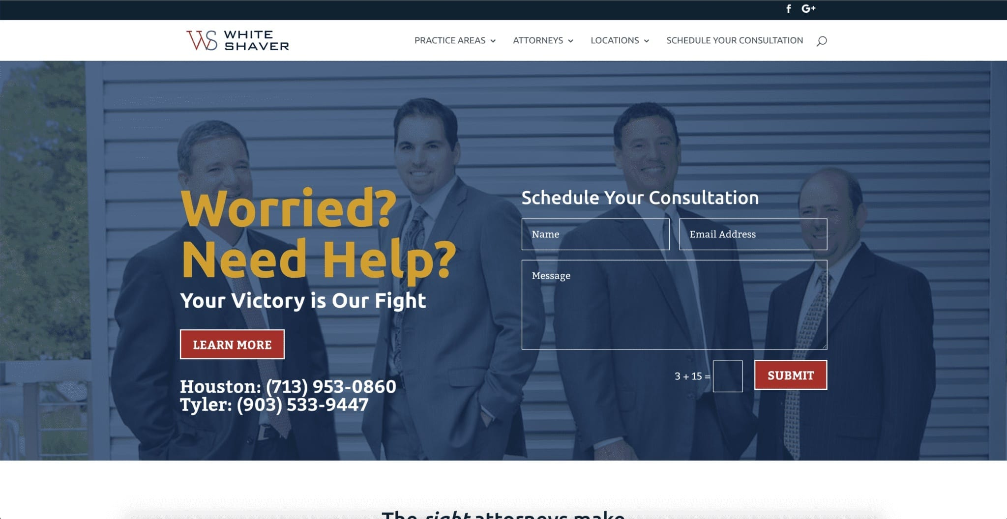 Web Design Project (White-Shaver Law Firm)