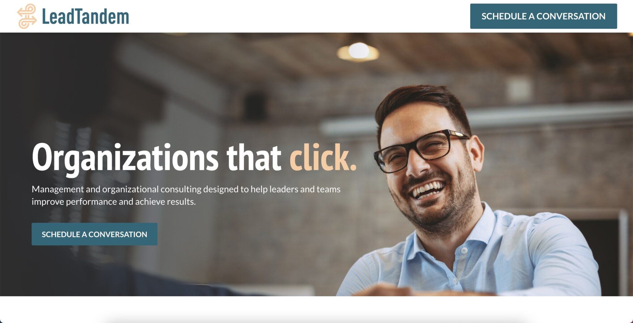 Web Design for LeadTandem Business Consulting