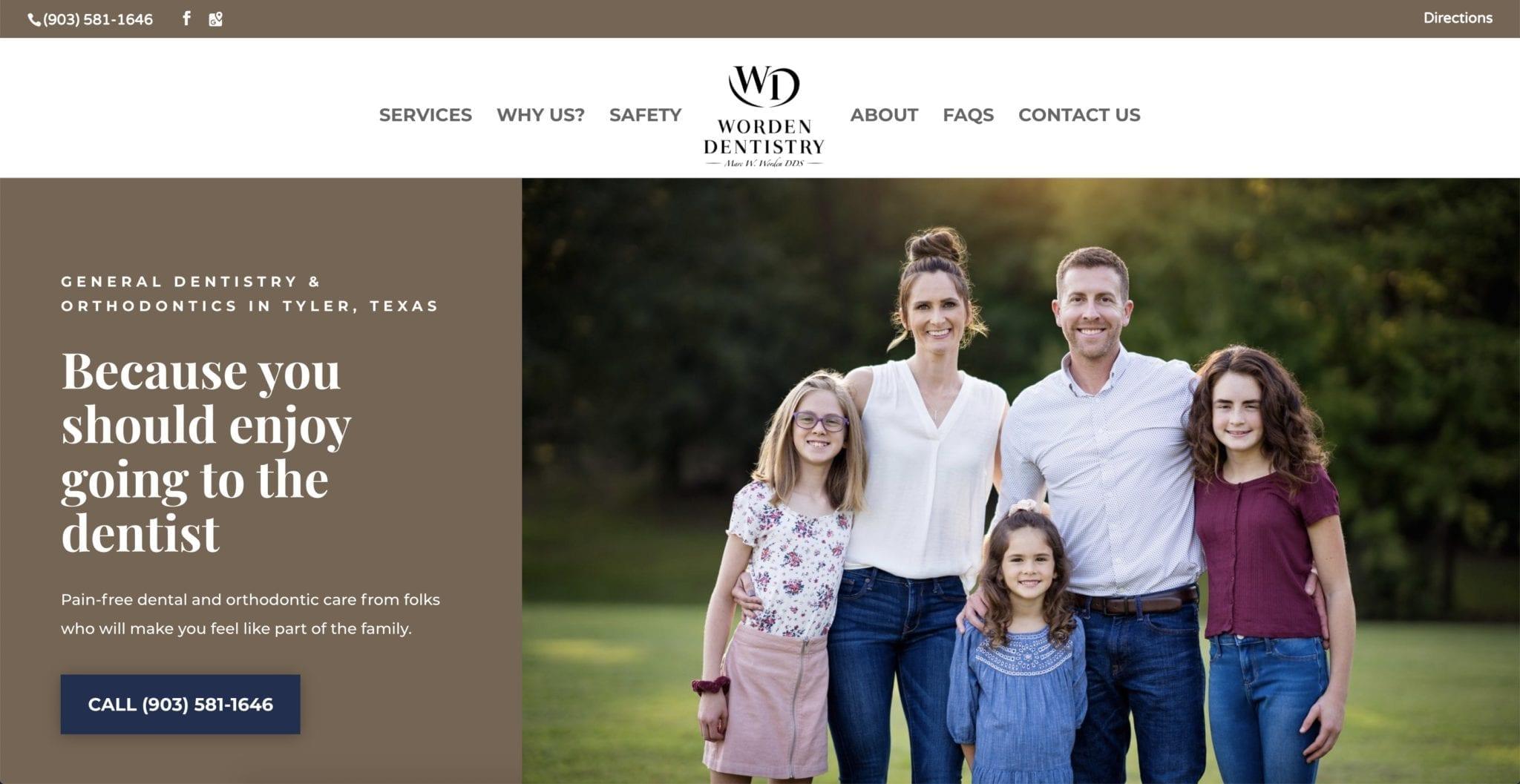 Worden Dentistry Website